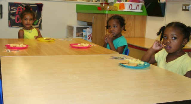 Family Style Dining, CACFP meals fed at RCN Center City Day Care, at Sibley Building